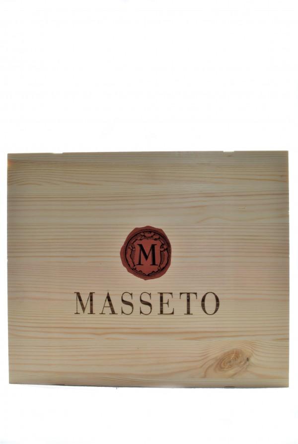 Masseto, Cassetta Legno da 3 Bottiglie, 2015